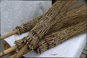 10 Bambus - Besen Reisigbesen Bambusreiser Strauchbesen Hexenbesen Hofbesen Nimb