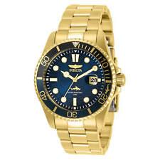 Invicta Men's Watch Pro Diver Quartz Blue Dial Yellow Gold Bracelet 30810