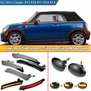 For MINI Cooper R55 R56 R57 R58 R59 Front Rear LED Side Fender Marker Light Lamp
