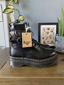 Dr Martens Jadon hardware strap black leather platform boots size 6 39 BNIB