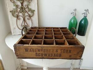 W2474 Alter Bierkasten ~ Brauerei Wagenhuber & Sohn Schwabach ~ Holz Bierkiste