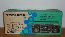 Brand New TOSHIBA RT-SF5 Sugar Stereo Radio Cassette Boombox with Box