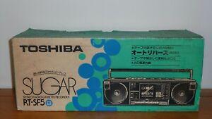 Brand New TOSHIBA RT-SF5 Sugar Stereo Radio Cassette Boombox with Box