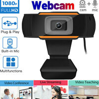 Webcam Auto Focusing Web Camera HD Video Cam w/ Microphone For PC Laptop Desktop