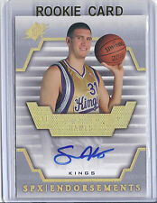 2007-2008 SPx Basketball Spencer Hawes Endorsements Sacremento Kings Auto Card