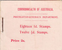 Stamps 1/2d green & 1d red Kangaroo stamps in booklet inverted watermark, RARE