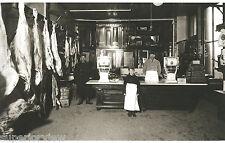 Vintage Butcher Shop Meat Market Little Boy Butcher Old Scales Sides of Beef WOW