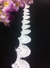 """2 Yard Lot, Sea Shell Venice Lace Trim, White or Ivory, 1"""""""