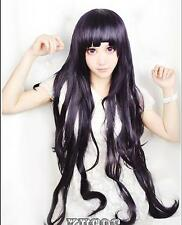 Dangan-Ronpa tsumiki mikan purple long wavy cosplay wig Fashion party Anime hair