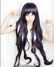 Dangan-Ronpa tsumiki mikan purple long wavy cosplay wig Fashion party Anime hair