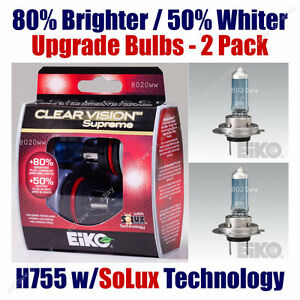 2pk Upgrade Cornering Light Bulbs 80% Brighter 50% Whiter - EiKO H755CVSU2