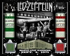 LED ZEPPELIN SIGNED RP PHOTO SEPT 4, 1971 W/ MAPLE LEAF GARDENS RED-GREEN SEAT