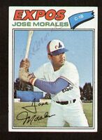 Jose Morales #102 signed autograph auto 1977 Topps Baseball Trading Card