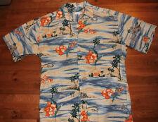 Pierre Cardin Hawaiian shirt Size M men Flower, Palms