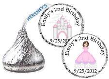 108 PRINCESS BIRTHDAY PARTY FAVORS HERSHEY KISS KISSES LABELS