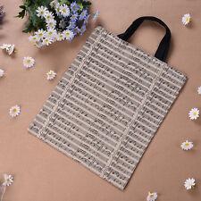 New Hot Canvas Musical Note Tote Shopping Shoulder Bag Girl Boy Handbag Satchel