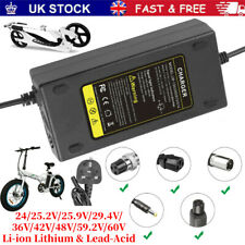 More details for universal li-ion lithium & lead-acid battery charger adapter for scooters ebike