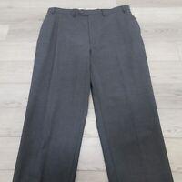 Lauren Ralph Lauren Men's Dress Pants Size 38 X 30 Total Comfort 100% Wool Gray