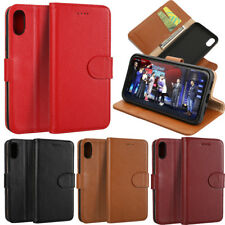 Magnetic Genuine Leather Stand Wallet Card Slots Case Cover For iPhone X/ 8 Plus