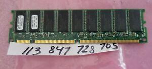 128MB SDR SD SDRAM  PC100 CL3   SYNCH DUAL RANK  8X8 168PIN  ECC  18 CHIPS