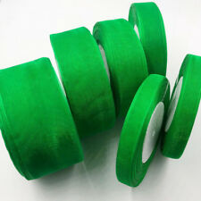 50 Yards (10mm-50mm) Green organza Ribbons Wedding Party Sewing Decorations 19