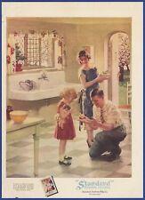 Vintage 1927 Standard Plumbing Fixtures Bathroom Norman Price Art 20's Print Ad