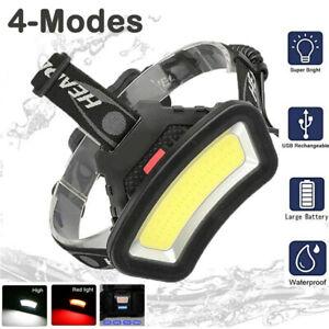 USB Rechargeable LED Head Lamp Torch Flashlight Waterproof Outdoor Headlight