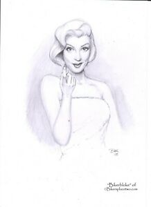 Marilyn Monroe - Original Pin-up Artwork by Biker (aka Bikerbloke)
