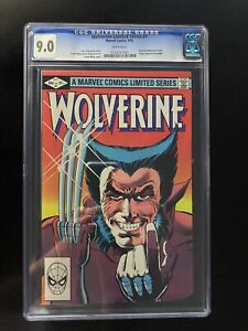 WOLVERINE #1 CGC 9.0 WHITE PAGES LIMITED SERIES FRANK MILLER- 1ST SOLO WOLVERINE