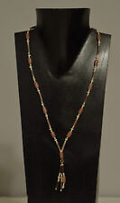 Necklace Buri Nut Wood Pearl Seed Beaded Necklace
