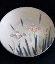 "OTAGIRI Hand Painted Floral Lite Orchid Plate Made in Japan – 7.5"" diameter"