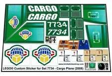 Lego® Custom Pre-Cut Sticker for City Airport Cargo set 7734 - Cargo Plane