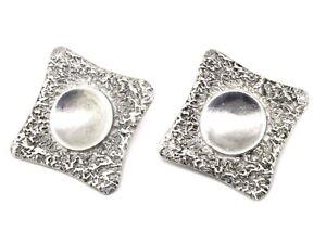 kräftige Designer Ohrclips - 925er Silber