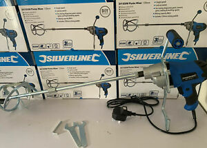 BRAND NEW SILVERLINE 850W Plaster Paint Cement Tiling Mixer 120mm JUST £32