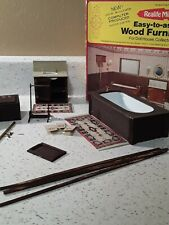 Dollhouse miniatures Furniture And Accessories/bathroom Set