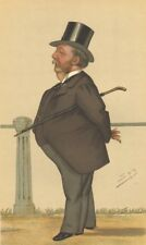 VANITY FAIR SPY CARTOON. Capt Arthur Gooch 'Goochie'. Men Of The Day. Spy. 1882