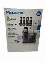 Panasonic KX-TG155SK Cordless Phone Link To Cell With Answering - 5 Handsets