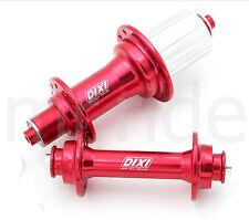 Dixi Road bicycle bike Hub set Front and Rear 20/24H fit 9/10 Spd shimano Red