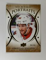 2018-19 UD Upper Deck Series 2 Rookie Portraits Gold 59 Christian Wolanin /99