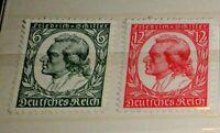 FRANCOBOLLI GERMANIA REICH  LOTTO 1934 FRIEDRICH VON SCHILLER SERIE MH* (C.8)