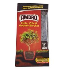 Amdro Mole,Vole and Gopher Blockers | Includes two 5-gallon blockers