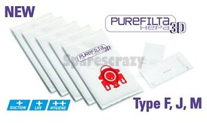 To fit Miele Type F J M Purefilta HEPA 3D Bag & Filter Pack (10)