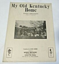 "1914 My Old Kentucky Home - Americana Sheet Music ""Anti-Slavery Song"""