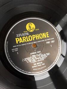 The BEATLES - RUBBER SOUL - EARLY PRESS VINYL LP yellow / black -4 / -4 *SUPERB*