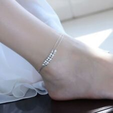 925 Sterling Silver Beads Chain Anklet