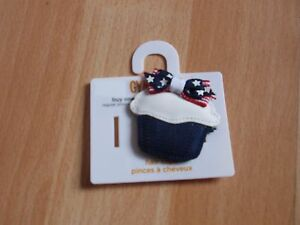 NWT GIRLS GYMBOREE HAIR CLIPS 4TH OF JULY