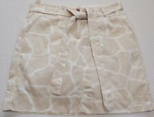 Lands End Womens Petite Tan White Giraffe Print  Skort Sports Skirt/Shorts  4P