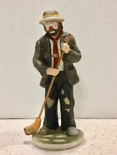 "Emmett Kelly Jr Collection Porcelain Figurine ""In The Spotlight"" Hobo - Flambro"