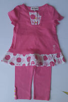 Juicy Couture Baby Girl Pink Dress 2PC Pant Legging set Sizes 6 12 months NWT