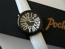 Pocket PK2036 Ladies Rond Classique Medio Black White Watch